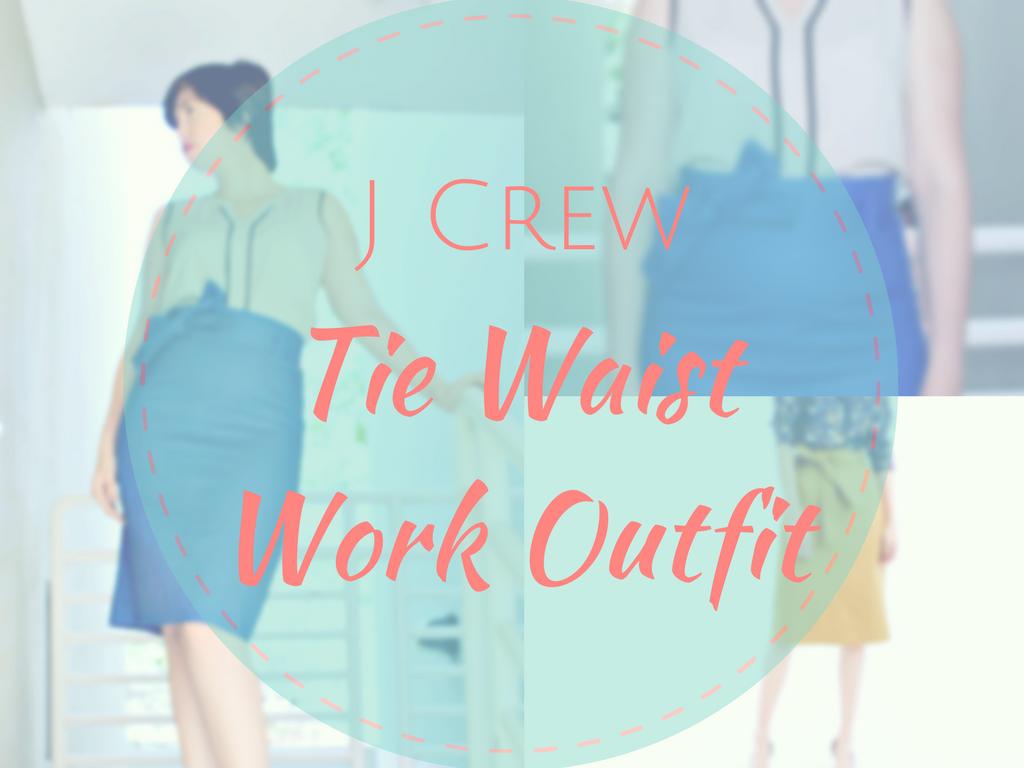 J Crew Tie Waist Skirt Cobalt Blue Outfit